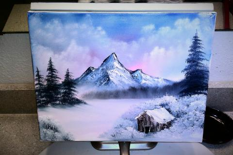 11x14 winter oil painting Photo
