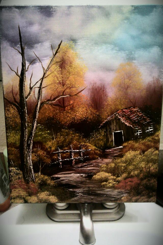 11x14 fall oil painting Large Photo