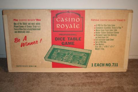 Vintage Casino Royal Craps table limited and numbered in its original box Photo