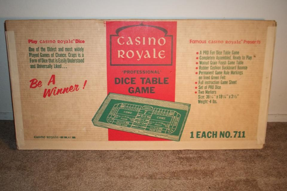 Vintage Casino Royal Craps table limited and numbered in its original box Large Photo