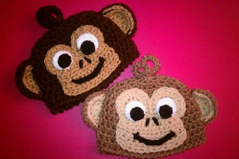 brown monkey hat Photo