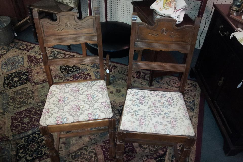Pair of Antique Dining chairs Large Photo