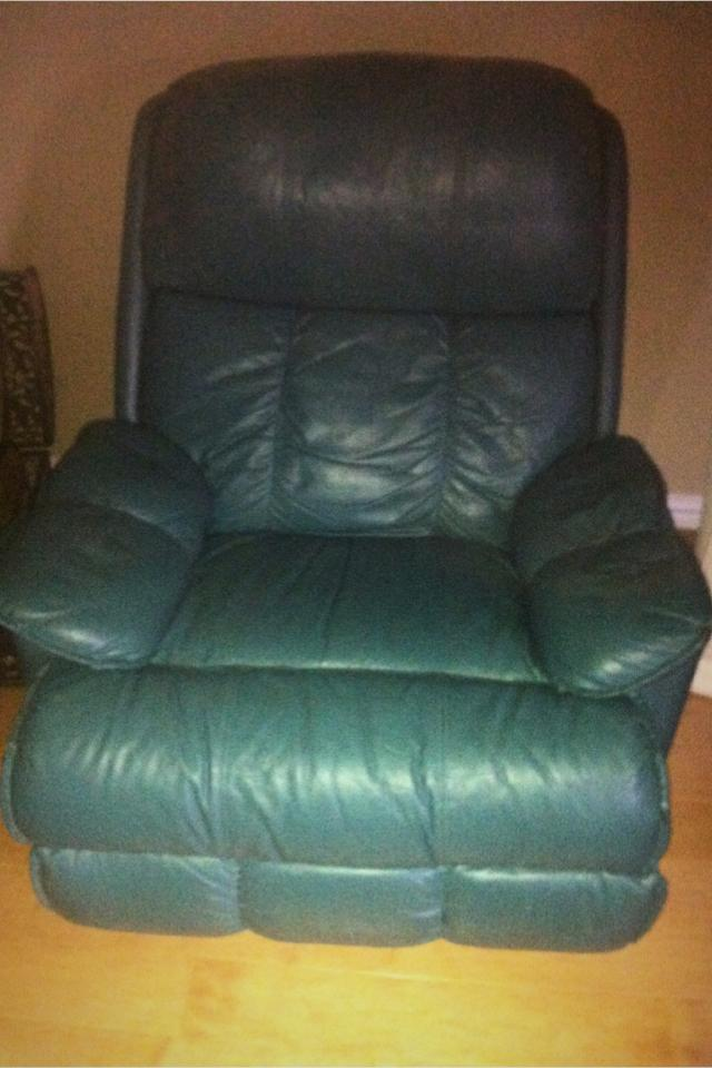 Green leather chair  Photo