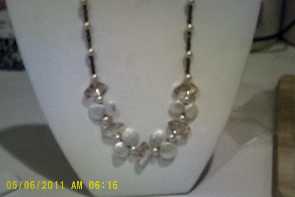 Pearl and Stone Necklace Set (Custom) Large Photo