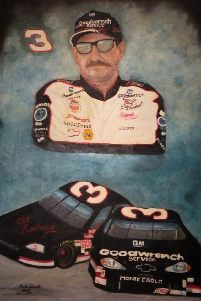 Earnhardt Sr. Oil Painting Photo
