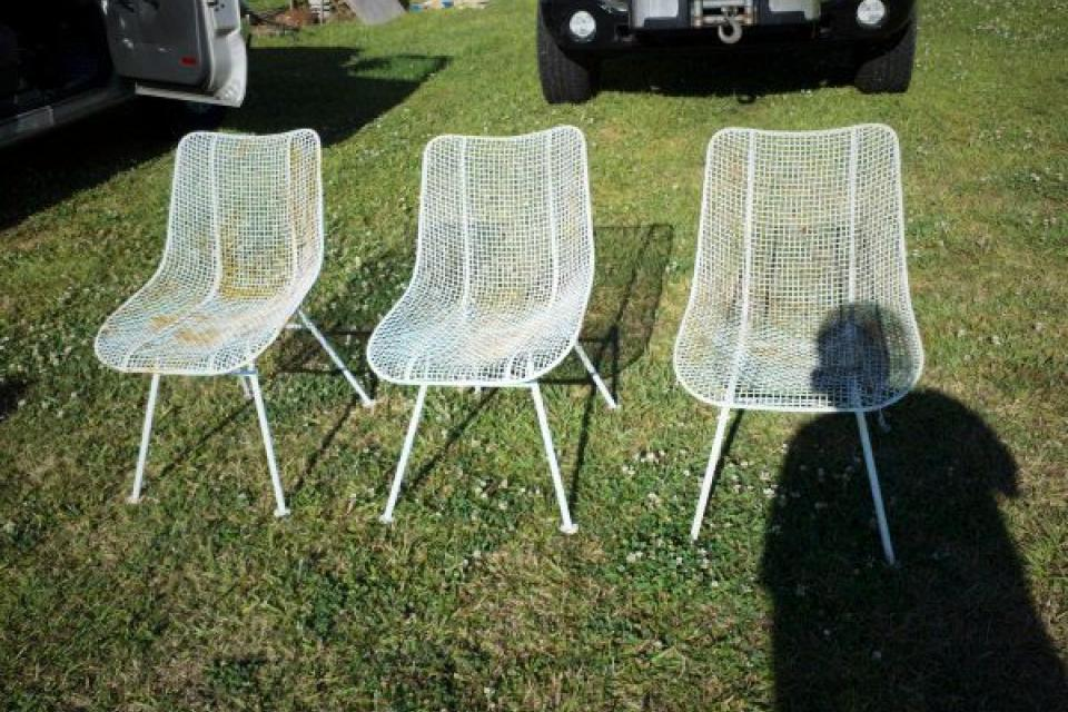Russell Woodard Sculptura 1950's Retro Patio Chairs Large Photo