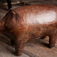 Vintage Abercrombie & Fitch Leather Pig Photo
