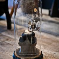 Time Piece Sculpture with Glass Vitrine Photo