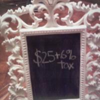 Vintage Frame Chalkboard Photo
