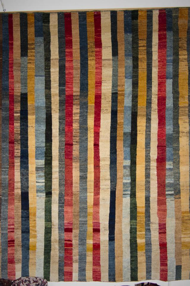 Striped Persian Bijar Carpet - Persian Bijar Photo