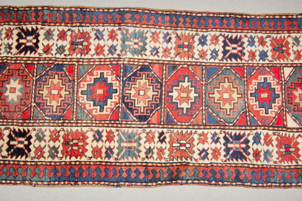 Antique Kazak Carpet Large Photo