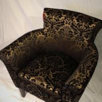 Floral Brocade Club Chair Photo