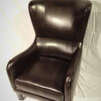Leather Studded Club Chair Photo