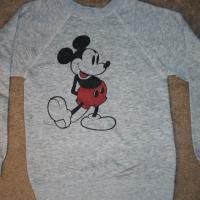 VINTAGE MICKEY MOUSE SWEATSHIRT Disneyland 1978 fits XS  Photo