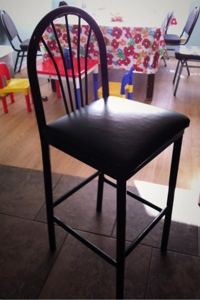 Black high chair Large Photo