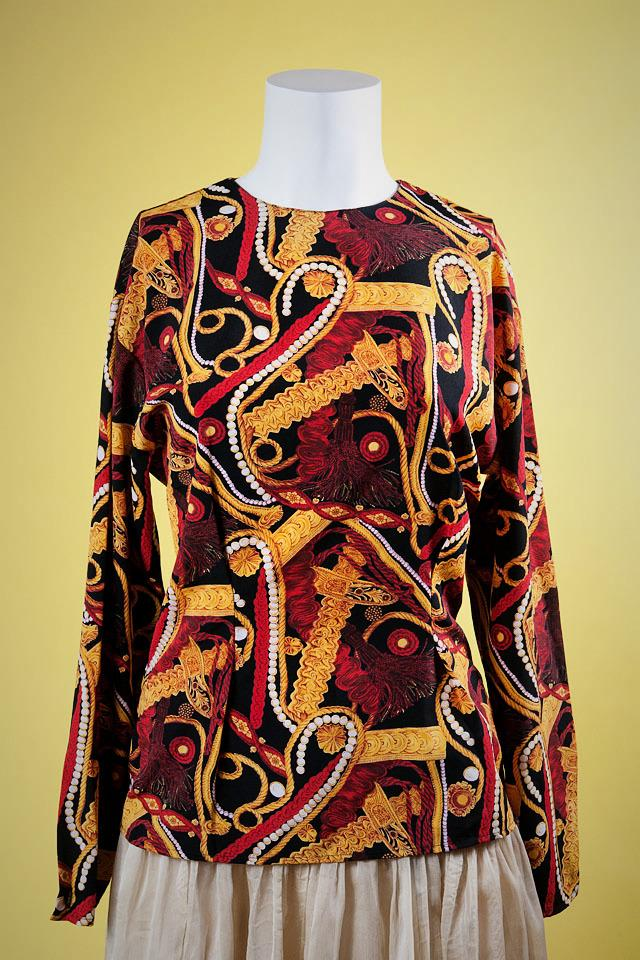 Black, Red, and Yellow Chinese-Inspired Shirt Large Photo