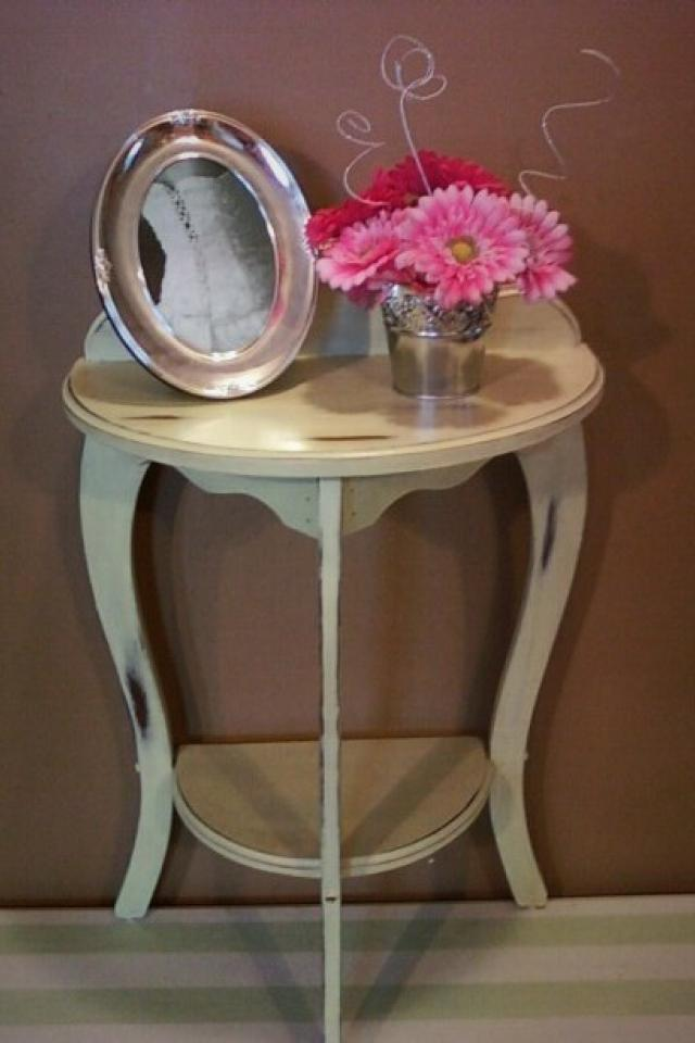 Shabby Chic Half Moon Table Large Photo