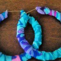 handmade bamboo earrings Photo
