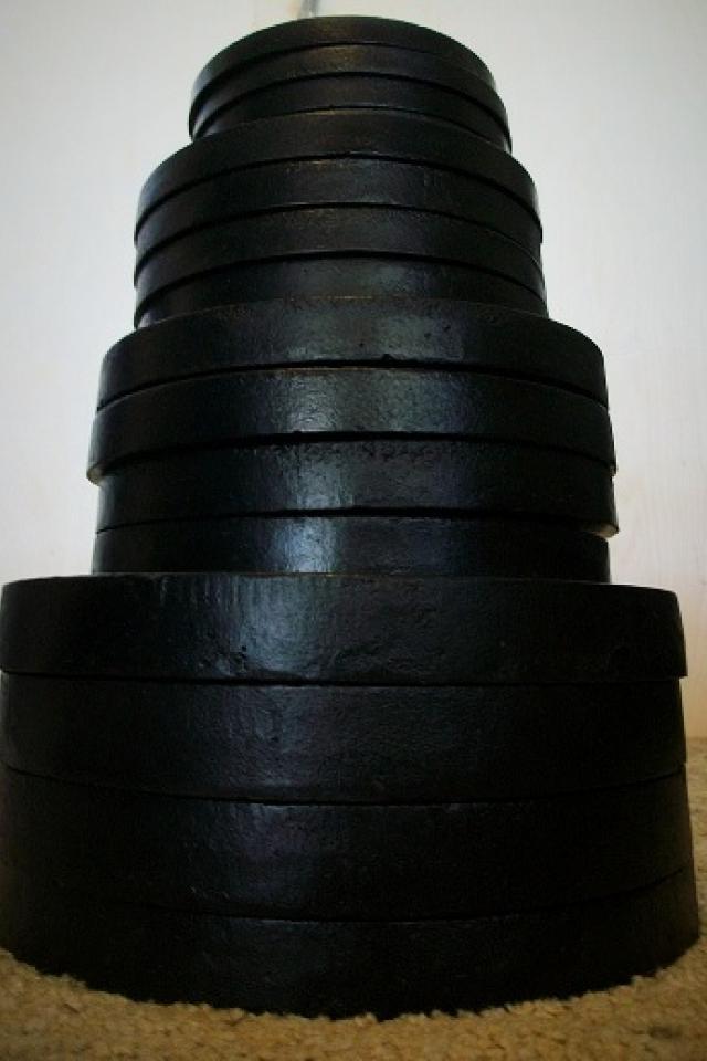 Standard weight set, weights, barbell, bar bell Photo