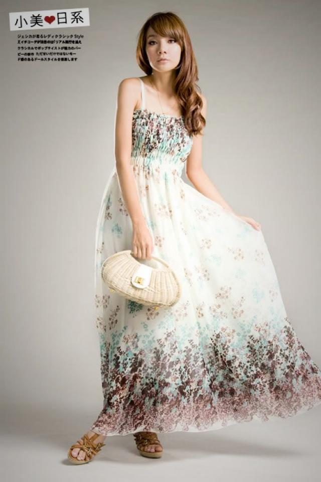 Bohemia Floral maxi Long braces strap Dress Skirt SK5 Photo