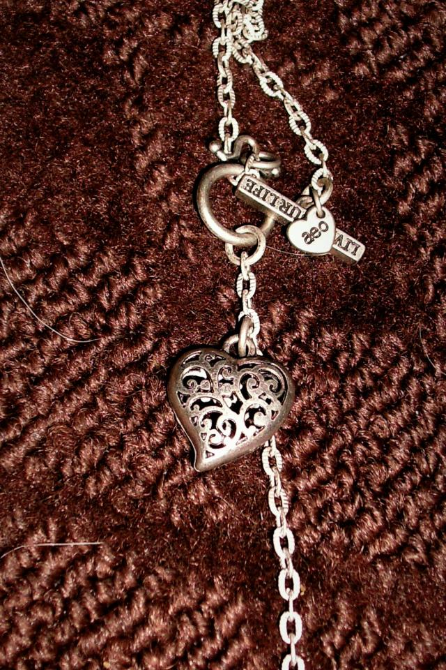 sterling double heart necklace Photo