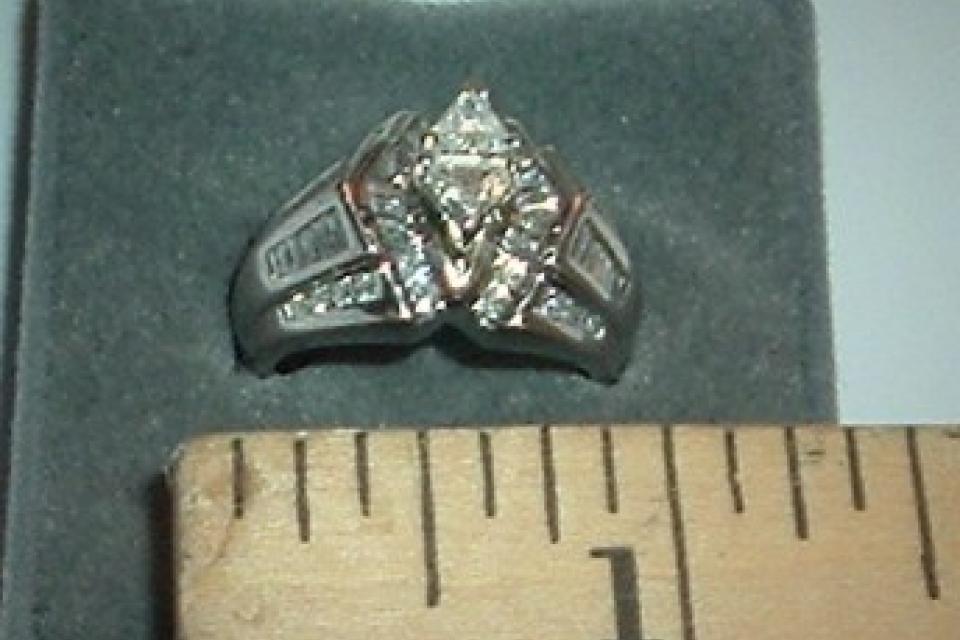 Solid 950 Platinum & 1.68ct.Diamond Ring Large Photo