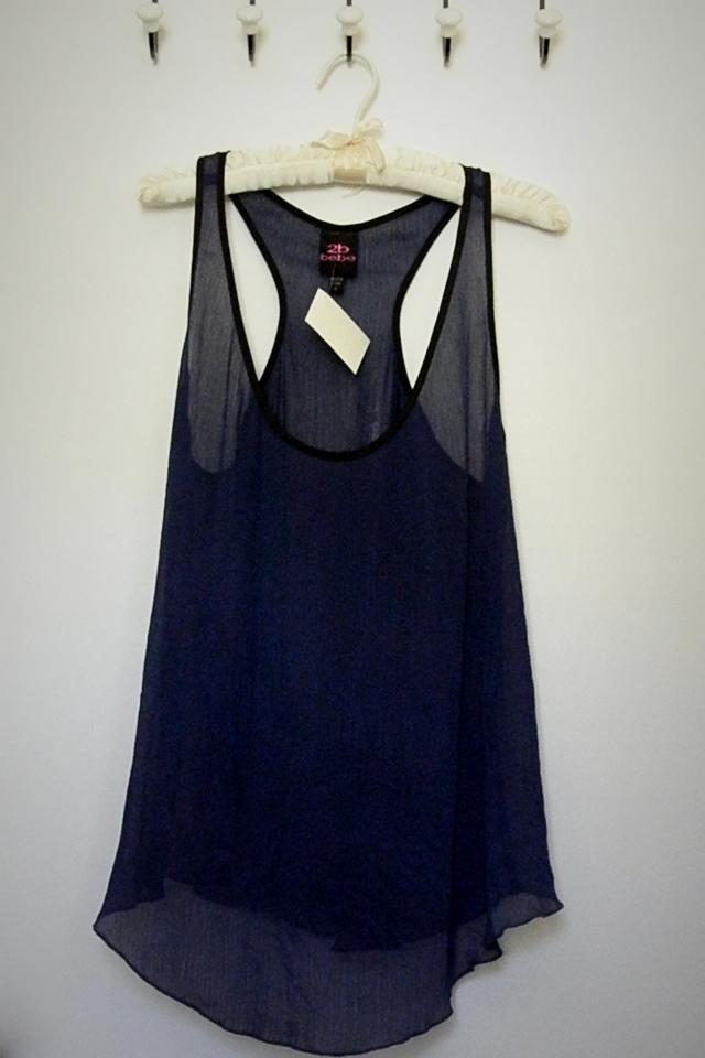 Sheer Indigo Tank - Size S Photo