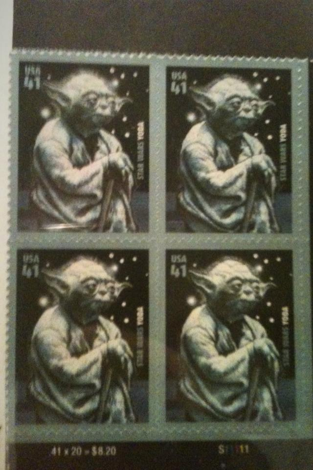 YODA STAMPS   STAR WARS Large Photo
