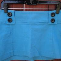 blue mini-skirt Photo