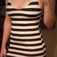 stripe mini dress Photo