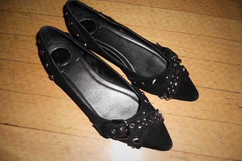 BCBG black studded women's shoes size 7.5 Photo