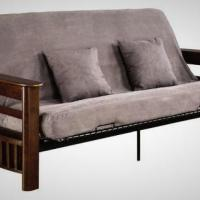 Like New Comfortable Futon, Wood Frame. Full size mattress. Photo