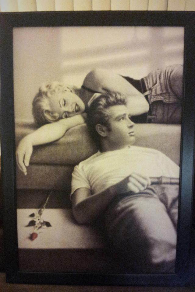 Marilyn Monroe and James Dean Art Work Black Framed  Large Photo
