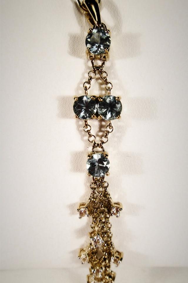 Apatite & White Sapphire Pendant Photo