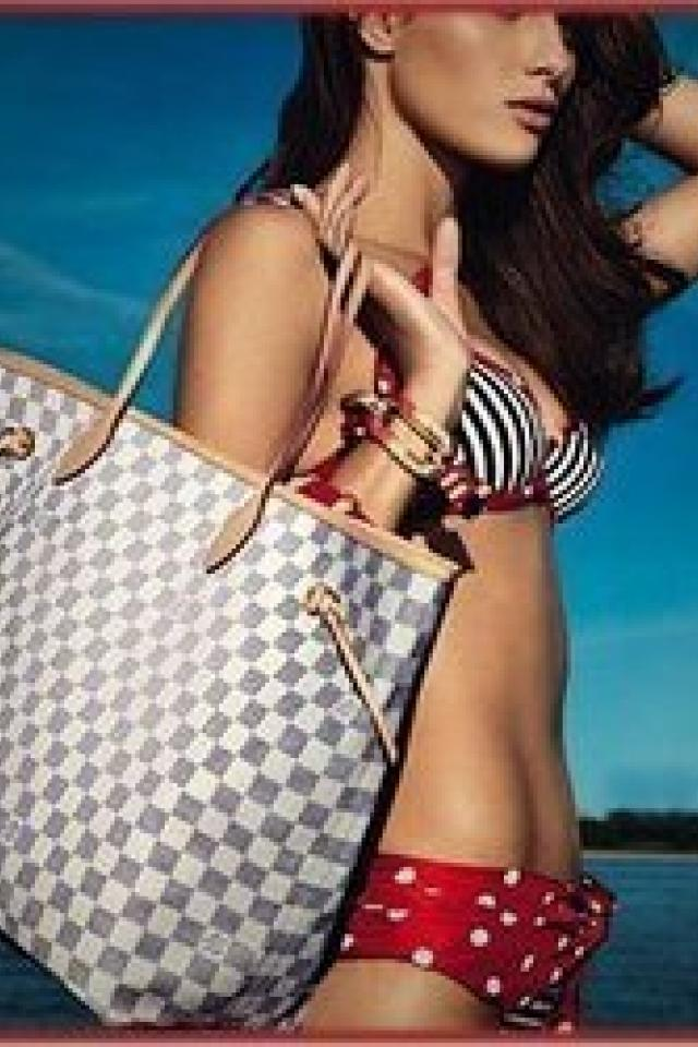 Louis Vuitton Damier Azur Canvas Neverfull GM Photo