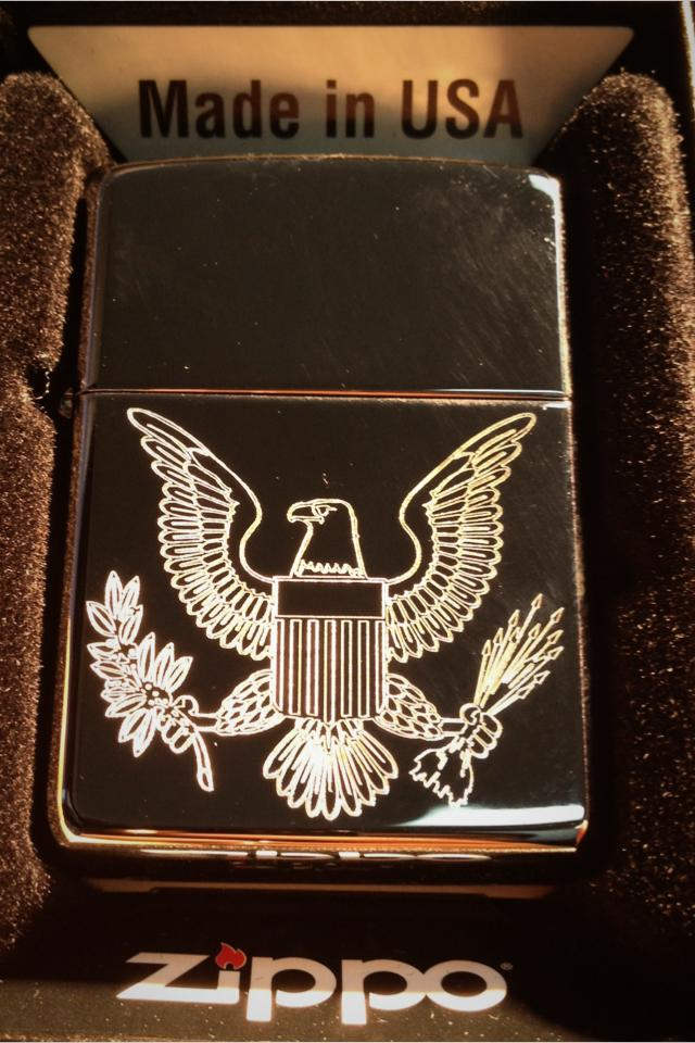 Zippo lighter presidential seal logo Photo