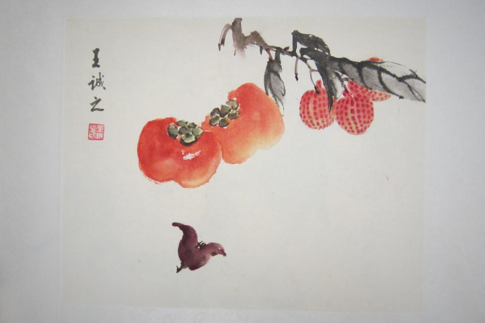 Asian art; fruit Large Photo