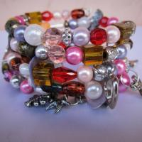 Wrap around charm and beaded bracelet for sale Photo
