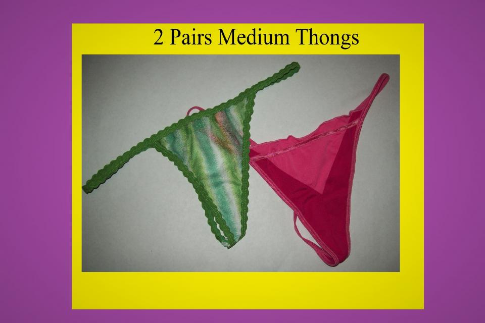 2 - MEDIUM Womens G-string Thongs Lingerie Panties Large Photo