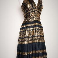Ralph Lauren Black & Gold Dress Photo