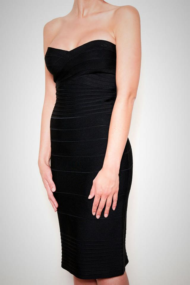 Herve Leger Black Dress Large Photo