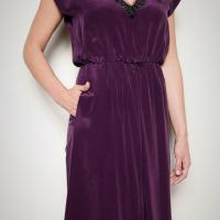 Robert Rodriguez Purple Dress Photo