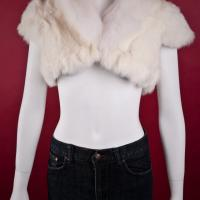White Fox Fur Shrug Photo