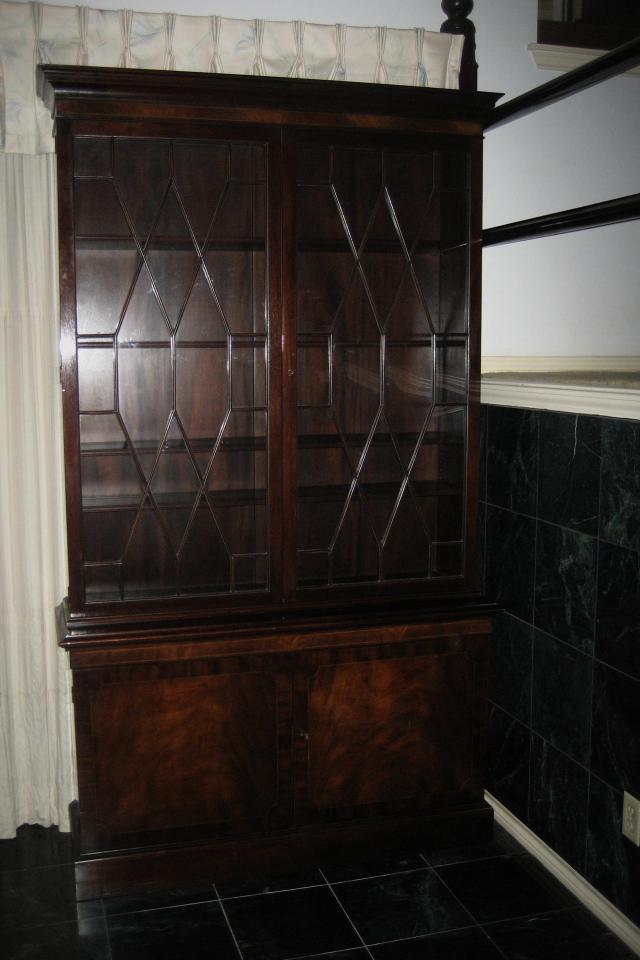 Baker Furniture, Chippendale Design China Cabinet  Photo