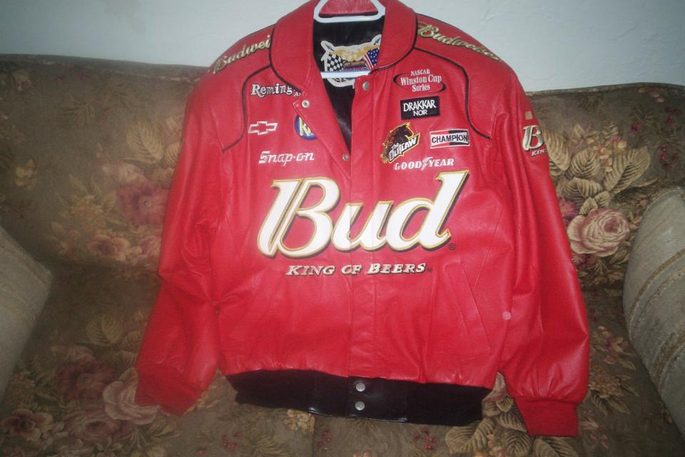 Leather Budweiser Jacket Large Photo