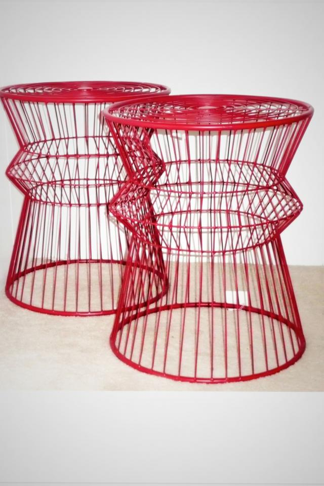 Modern Wire side accent table or umbrella stand Photo
