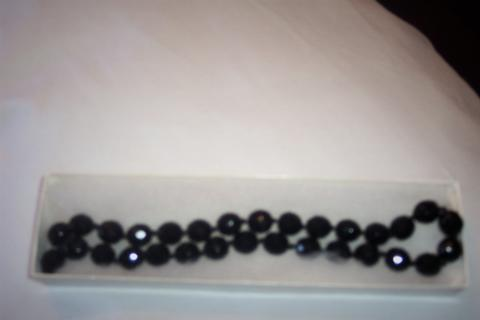 Vintage 1960's Black Beaded Necklace! Beautiful! Photo