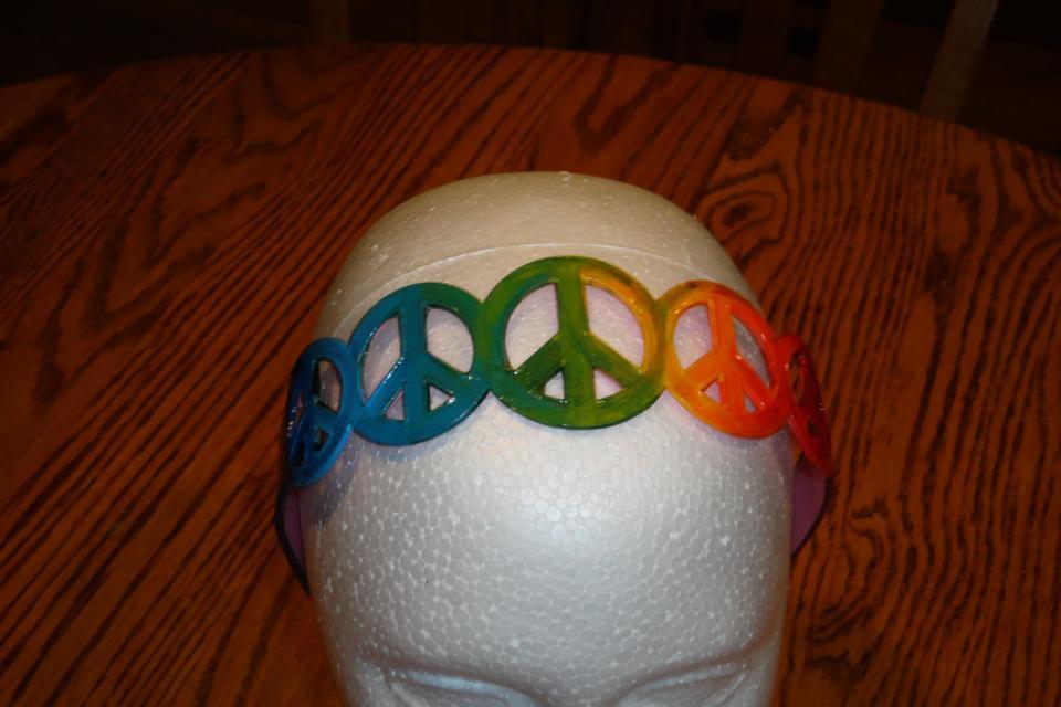 Peace Love & Rainbows headband Large Photo