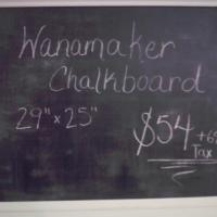 Wanamaker Framed Chalkboard Photo