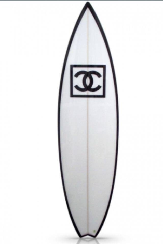 Authentic White Chanel Surfboard Photo